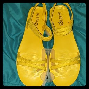 Yellow Band Slingback Sandals